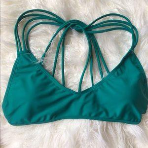 Envy's teal green bikini top. Size Large